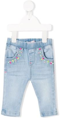 Billieblush Bead-Embellished Jeans