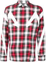 Neil Barrett checkered shirt red