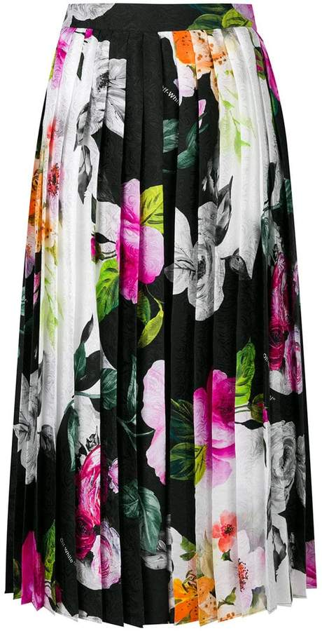 Off-White floral pleated skirt