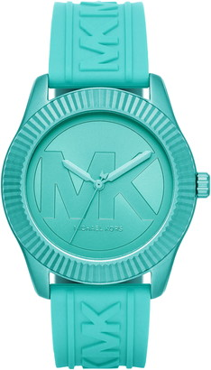Michael Kors Maddye Logo Silicone Strap Watch, 43mm