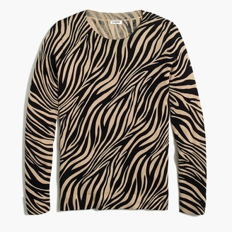 J.Crew Animal-print zebra Teddie sweater