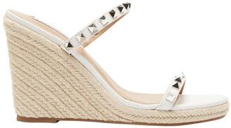 Steve Madden Mabil White Leather Sandal