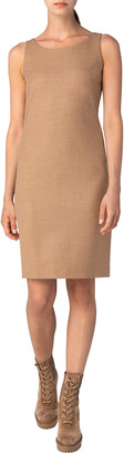 Akris Wool Flannel Sheath Dress