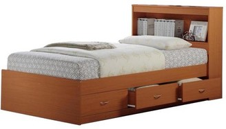 Hodedah 3-Drawer Captain Storage Bed, Multiple Colors, with Headboard
