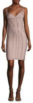 Herve Leger Seamed Intarsia Bodycon Dress
