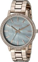 Roxy Women's RX/1010GMRG THE BELLS Rose Gold-Tone Bracelet Watch with Swarovski Crystals