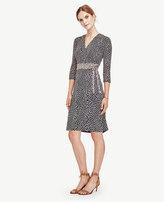 Ann Taylor Leafy Wrap Dress