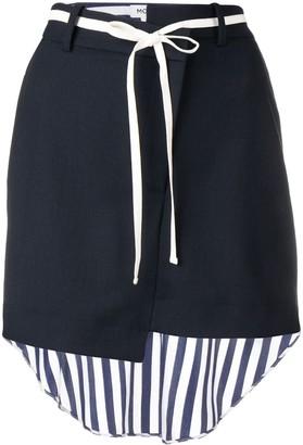 Monse Striped Shirt Back Skirt