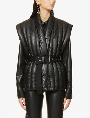 Isabel Marant Ajali quilted leather gilet