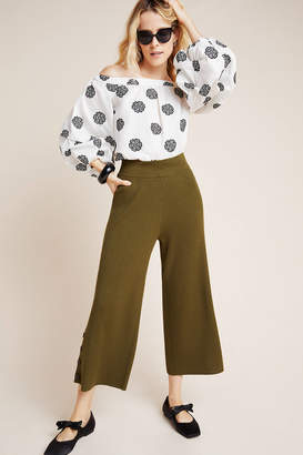 Anthropologie Jamey Knit Wide-Leg Pants