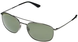 Ray-Ban RB3654 Square Metal Sunglasses 60 mm (Gunmetal) Fashion Sunglasses