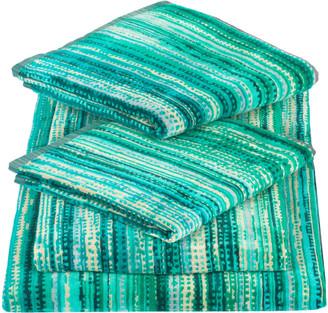 Elaiva Green Grass Five Piece Bath Towel Set