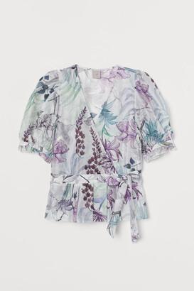 H&M Lyocell-blend wrapover blouse