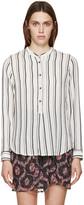 Isabel Marant Black & White Striped Udena Shirt