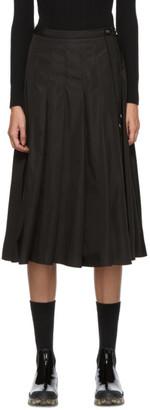 Moncler Black Technical Pleated Skirt