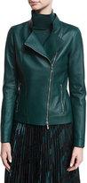 Lafayette 148 New York Warren Leather Moto Jacket