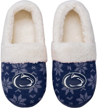 Women's Penn State Nittany Lions Ugly Knit Moccasin Slippers
