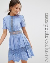 Asos Lace Embroidered Cotton Dress