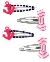 Gymboree Anchor & Bow Clips