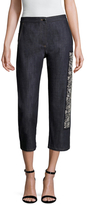 Christian Dior Cotton Embellished Cropped Denim Pant