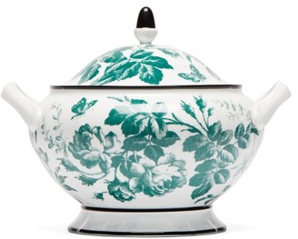 Gucci Herbarium Porcelain Soup Tureen - Green Multi