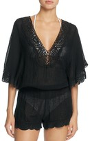 Eberjey Sol Liberty Lace Trimmed Romper Swim Cover-Up