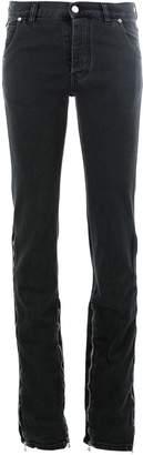 Faith Connexion zip leg flared jeans
