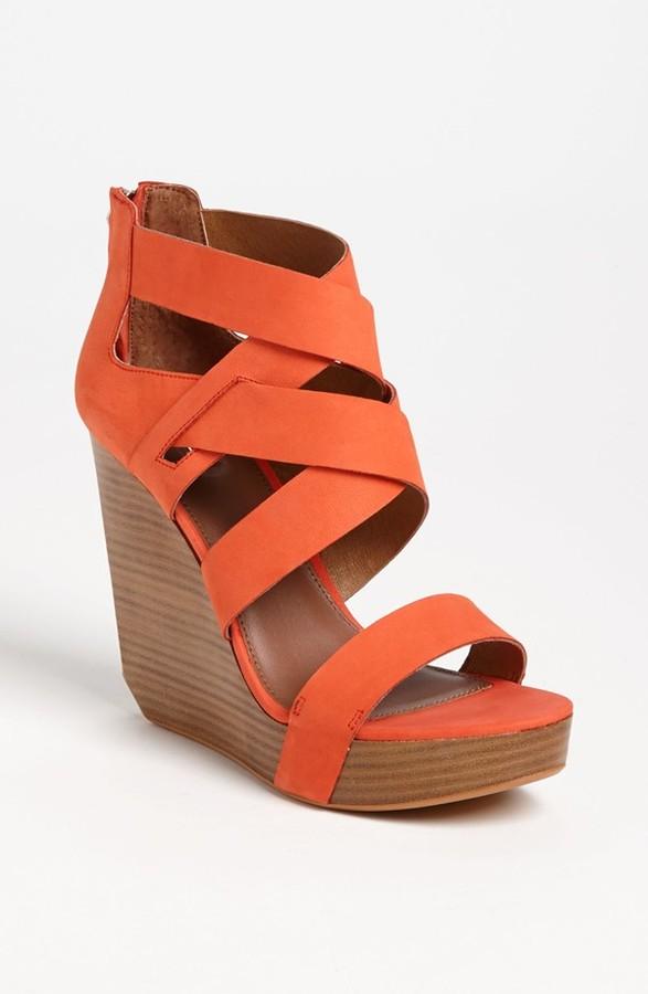 Matiko 'Crisscross' Wedge Sandal