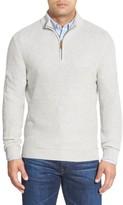 Nordstrom Men's Texture Cotton & Cashmere Quarter Zip Sweater