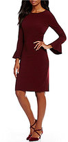 Alex Marie Maive Flared Sleeve Sheath Dress