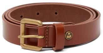 Isabel Marant Barni Logo-plaque Leather Belt - Mens - Brown