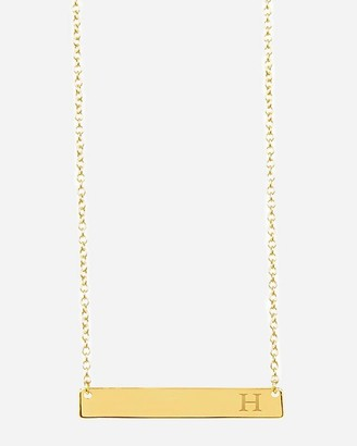 Express Sterling Forever Initial Bar Necklace