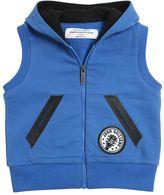 John Galliano Logo Printed Cotton Hooded Vest