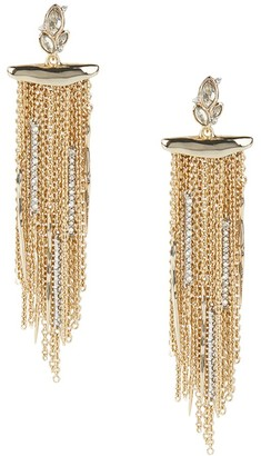 Alexis Bittar 10K Goldplated & Navette Crystal Cluster Fringe Earrings