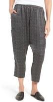 Eileen Fisher Print Hammered Silk Crop Pants