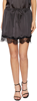 Lucca Couture Women's Charmeuse Lace Trim Skirt