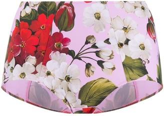 Dolce & Gabbana Floral Print High-Waisted Briefs
