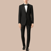 Burberry Classic Fit Wool Mohair Part-canvas Tuxedo , Size: 54r, Black
