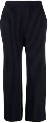 Sminfinity Ribbed-Knit Cropped Trousers