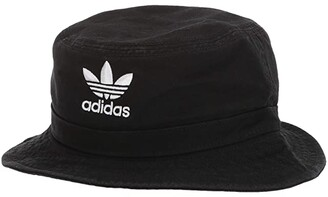 adidas Originals Washed Bucket (White/Black) Caps