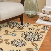 Christopher Knight Home Roxanne Caitlyn Indoor/Outdoor Floral Ivory Rug (7' x 10')