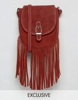 Reclaimed Vintage Suede Fringe Bag