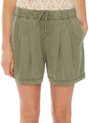 Vince Camuto Pleat-Front Drawstring Shorts