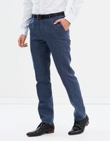 Brooksfield Linen Blend Slim Fit Trousers