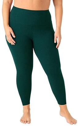 Beyond Yoga Plus Size High Waisted Midi Leggings (Darkest Night) Women's Workout