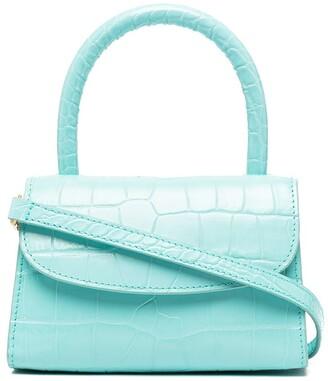 BY FAR Mini Crocodile-Embossed Leather Bag
