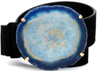Altuzarra Agate embellished suede belt