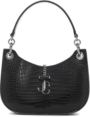Jimmy Choo Varenne Hobo Small leather shoulder bag