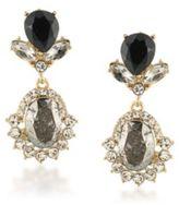 ABS by Allen Schwartz Dark Horse Crystal Double-Drop Earrings