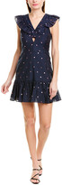 Rebecca Taylor Met Clip Silk-Blend Mini Dress
